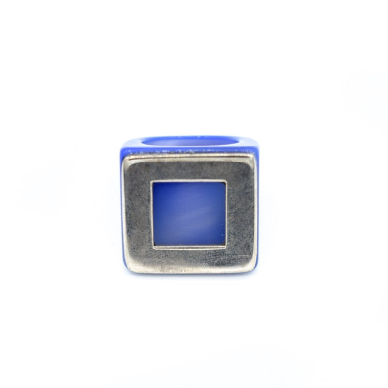 Roberto Di Castro Green Agate with SIlver Square Ring