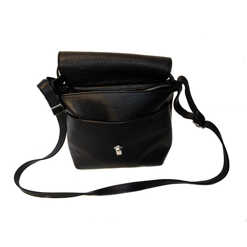 Alfred Stadler Frenchy Cross Body Pebbled Leather Bag