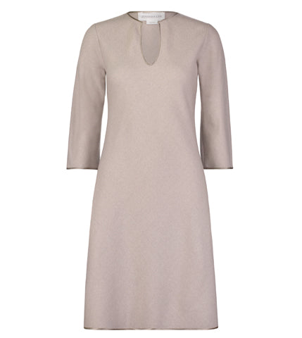 Bias Cut Wool Tunic Dress