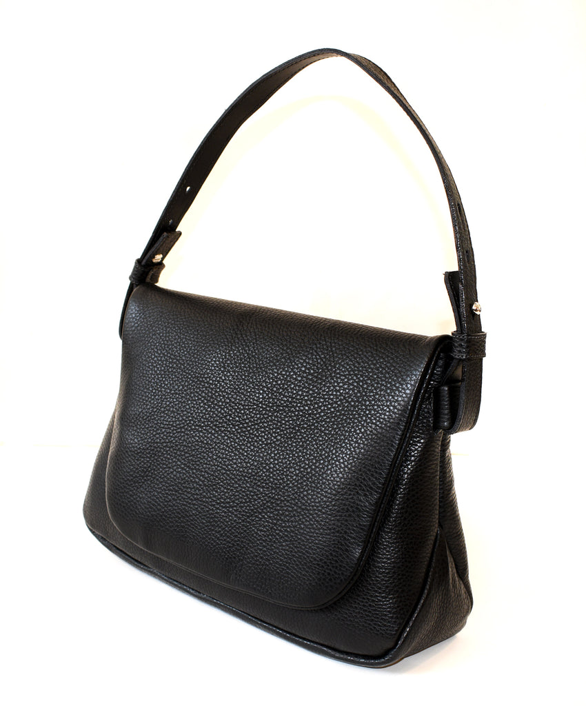 Alfred Stadler Pebbled Leather Shoulder Bag
