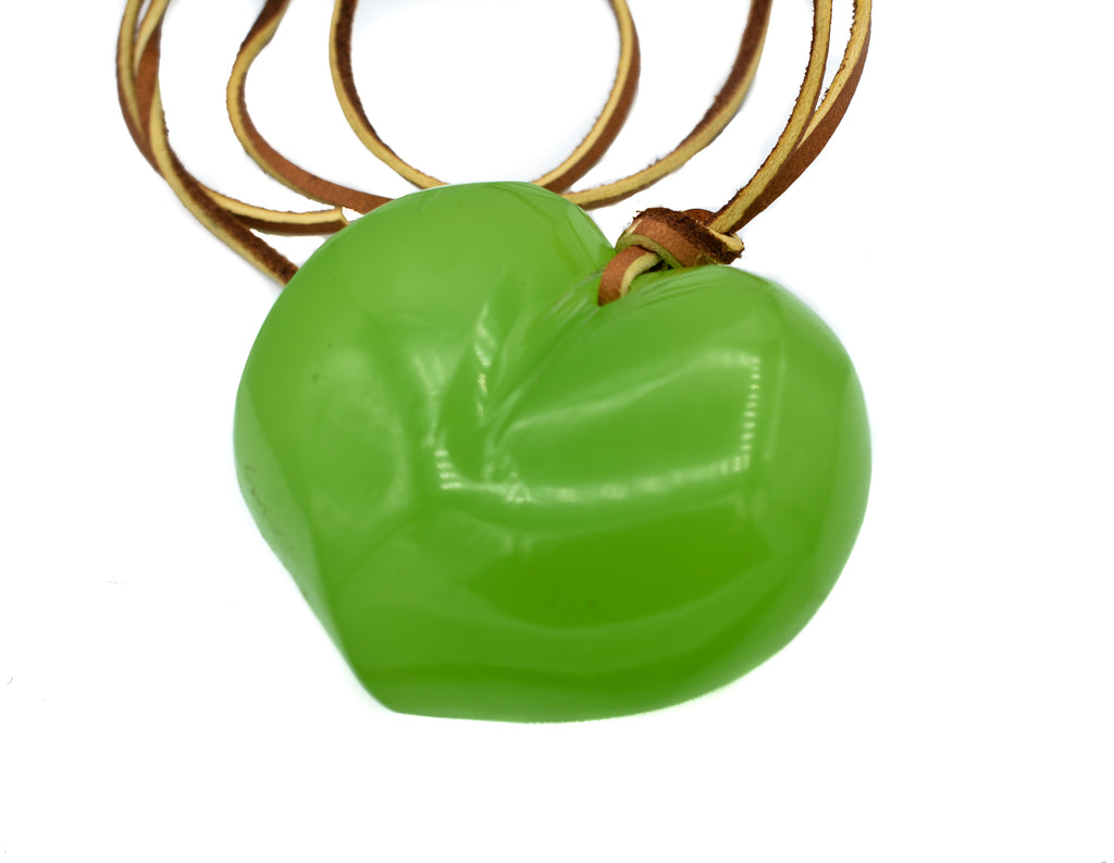 Cara Croninger Green Heart Necklace