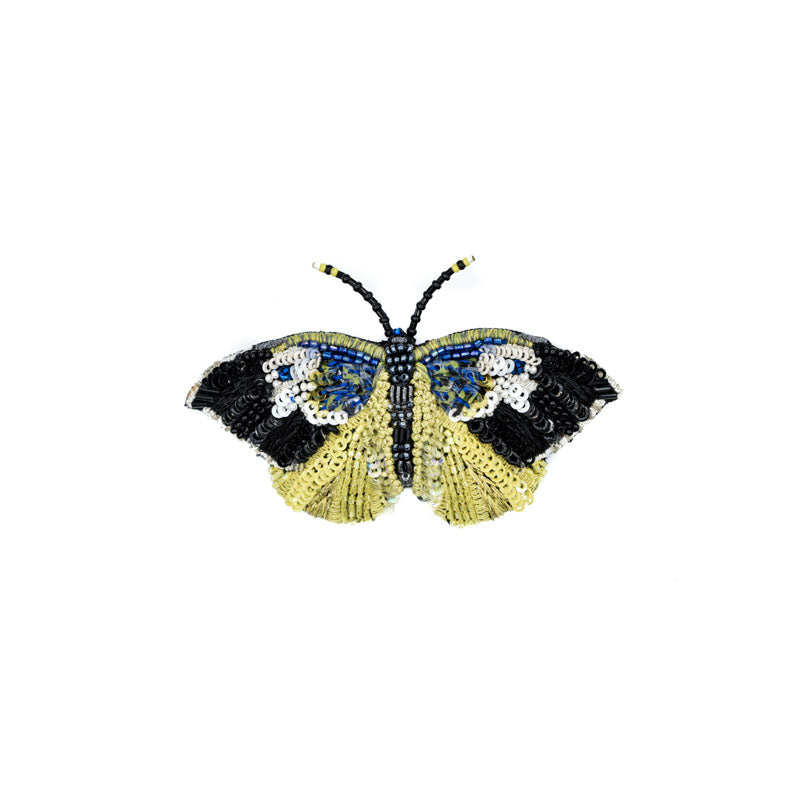 Hand Beaded Butterfly Pin