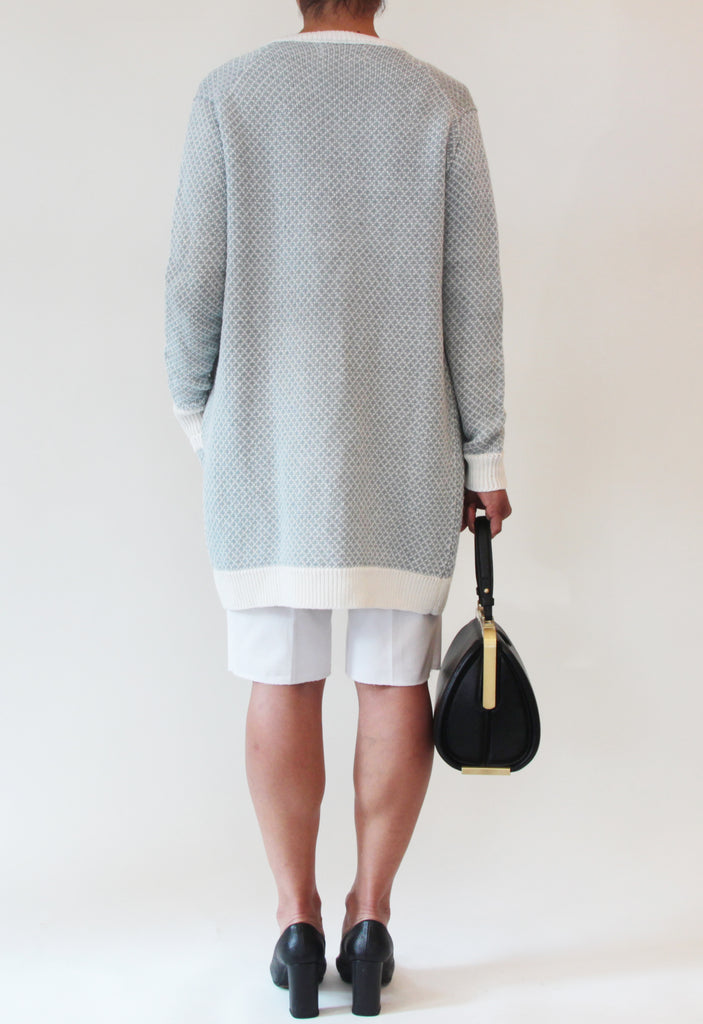 Linen Long Sleeve Cardigan With Pockets