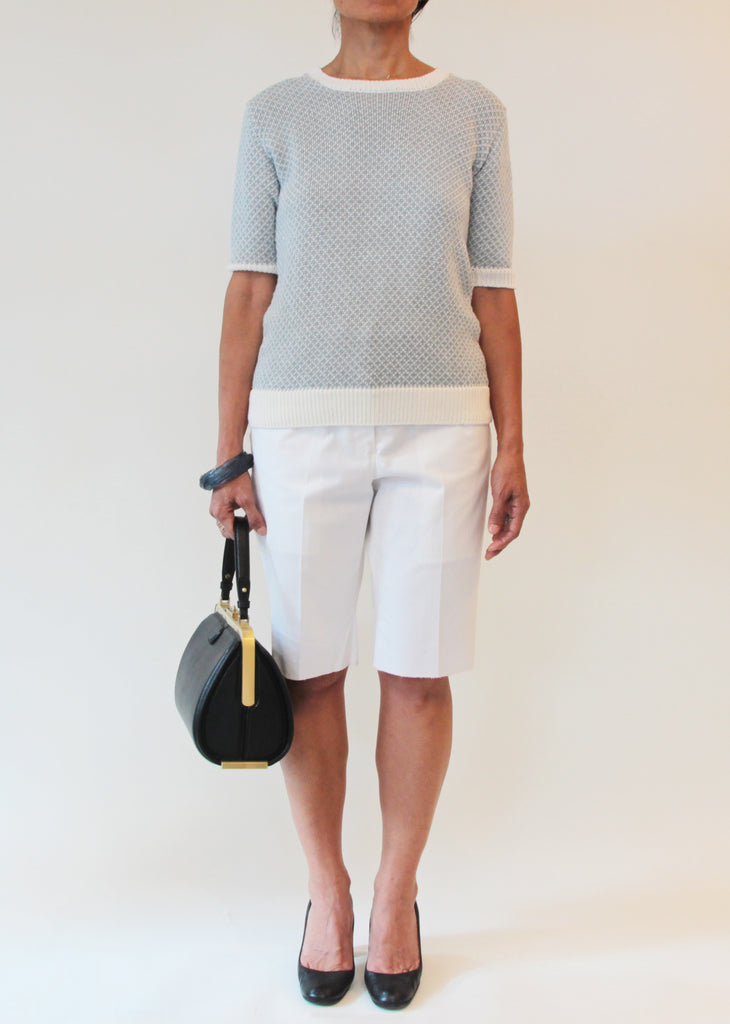 Short Sleeve Linen Knit Top