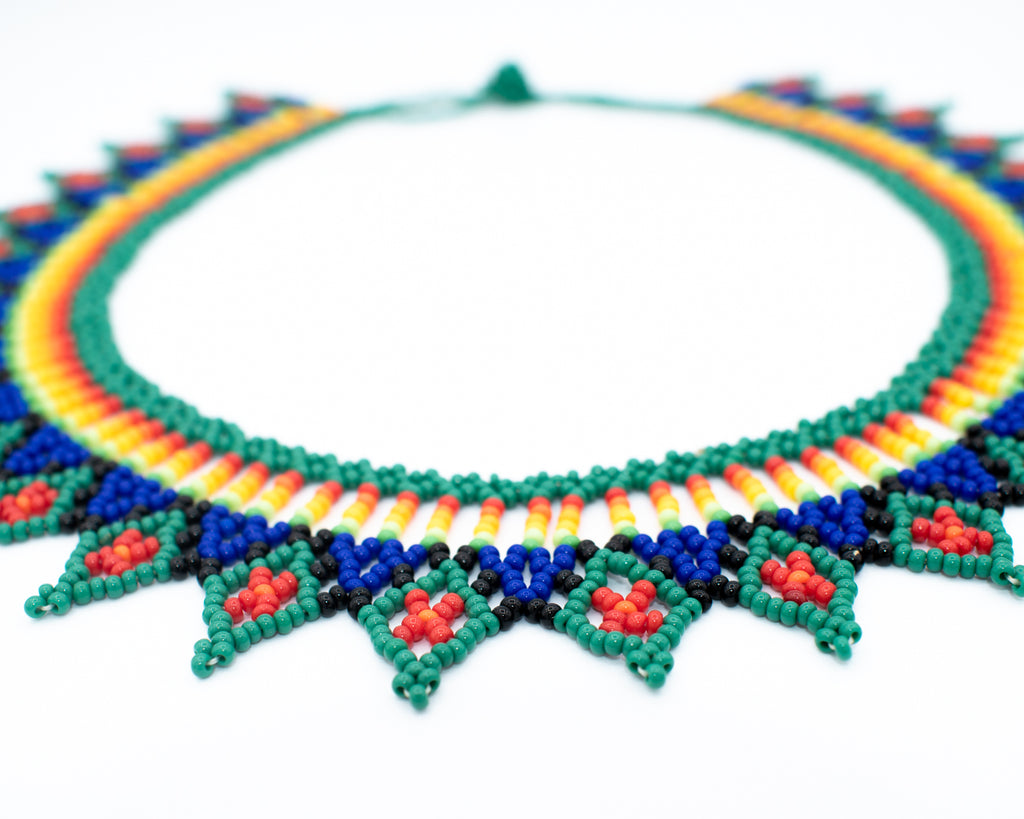 Glass Hand Beaded Necklace