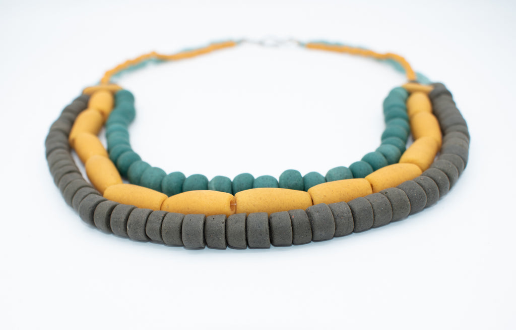 Matte Glass Bead Necklace