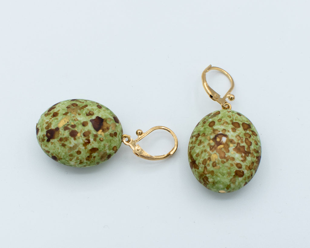 Roberto Di Castro Speckled Bead Earrings