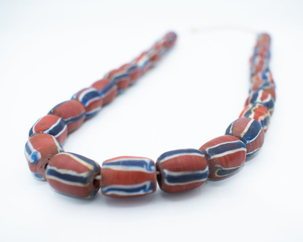 Hand Painted Vintage Nepalese Glass Necklace