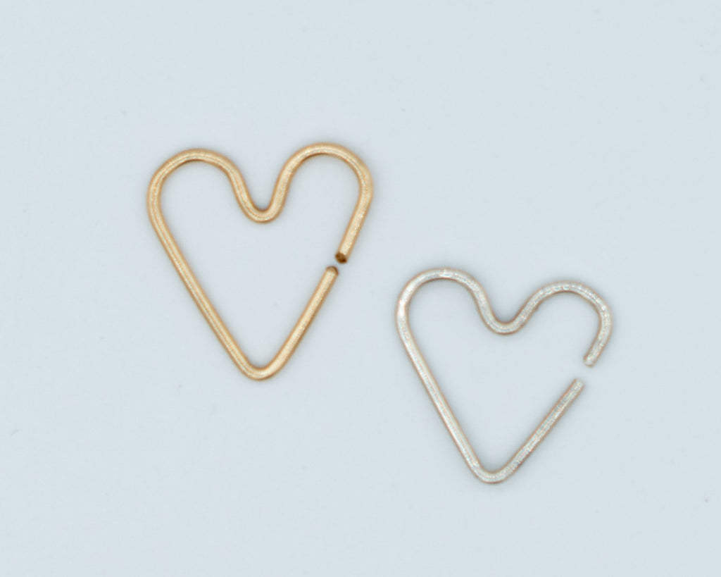 Single Heart Cuff Earrings