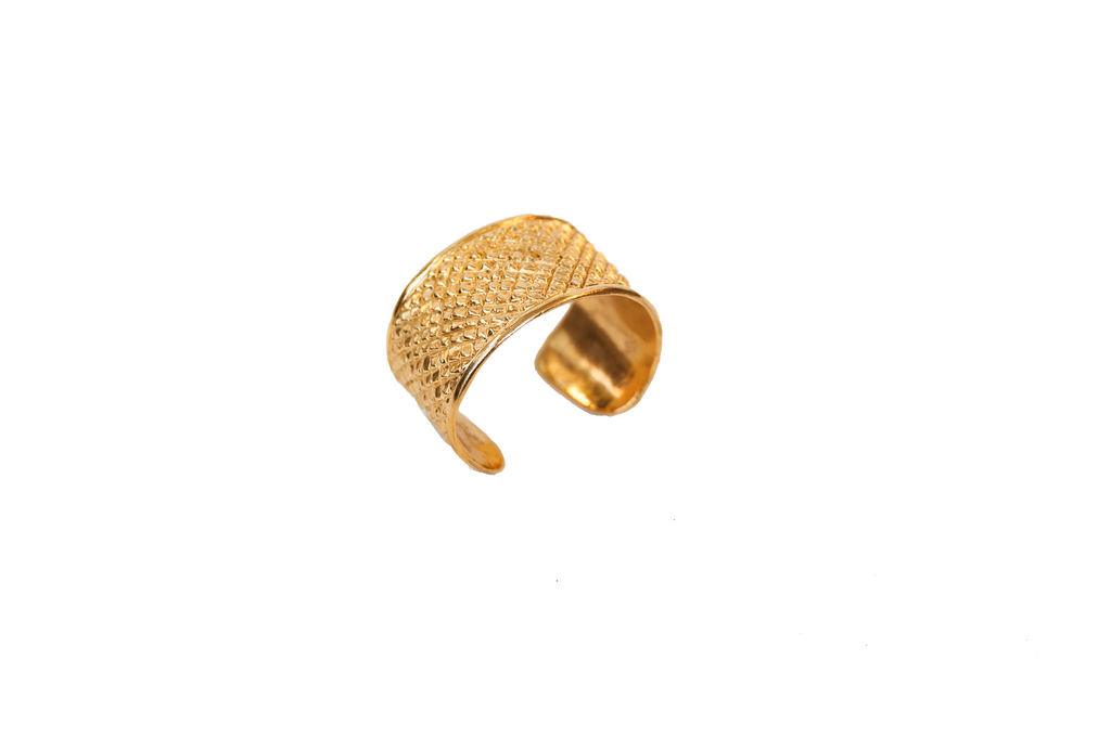 Burkindy Nickel 18k Gold Plated Snake Cuff