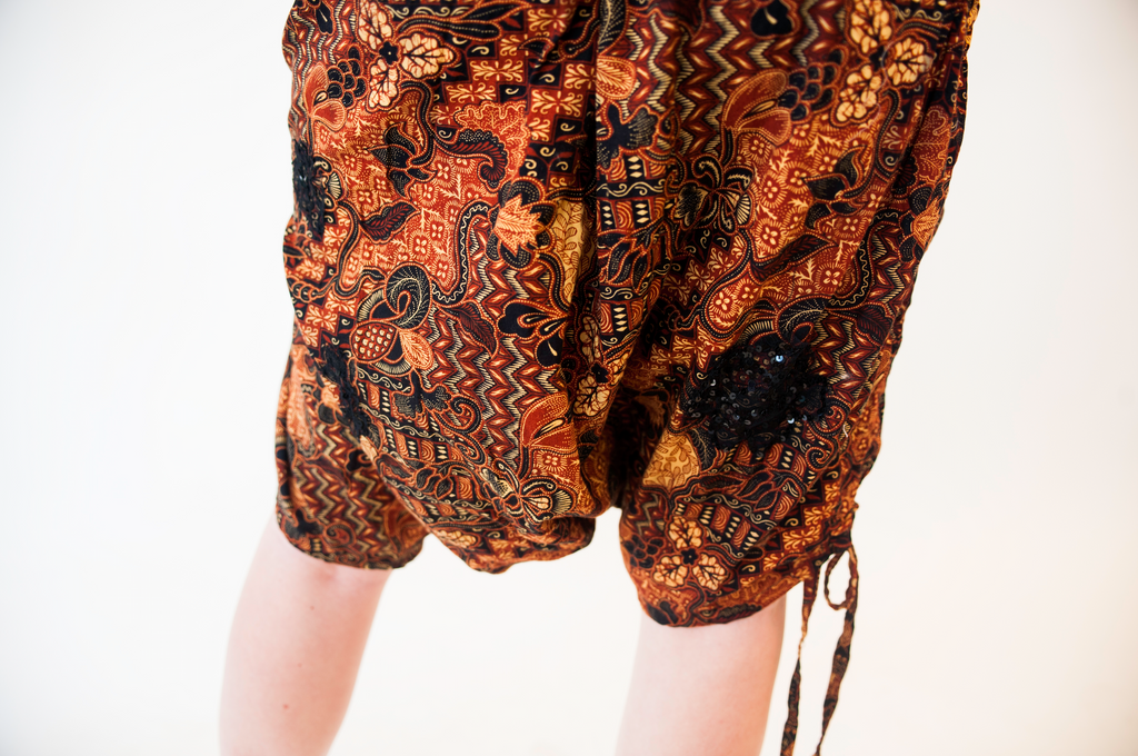 Harem Pants with Lace Applique