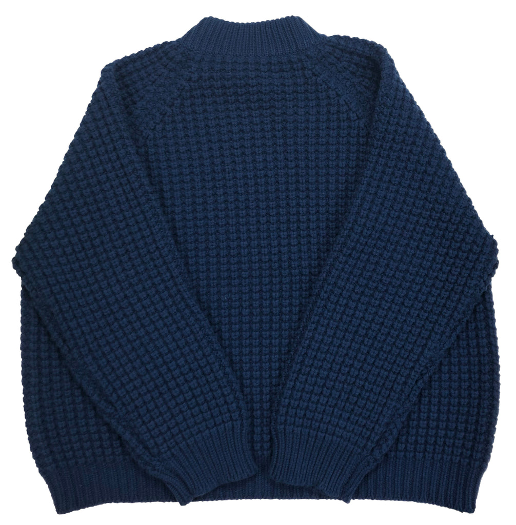 Cashmere Waffle Pullover - Naval Jack