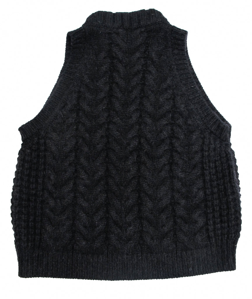 Mohair and Cashmere Cable Vest