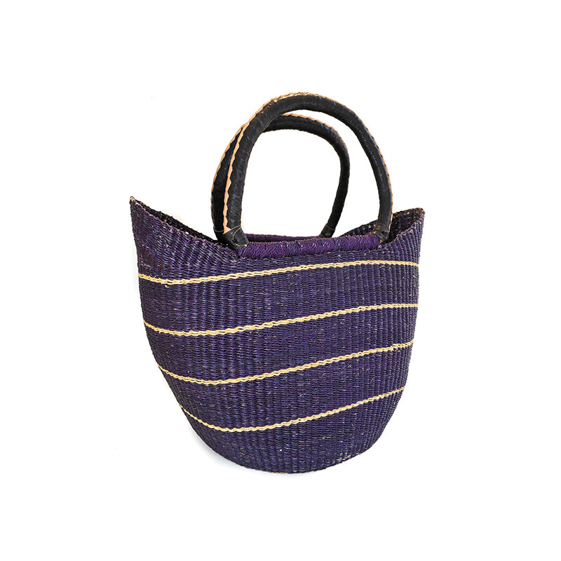 Swahili Large Hand Woven Straw Bag