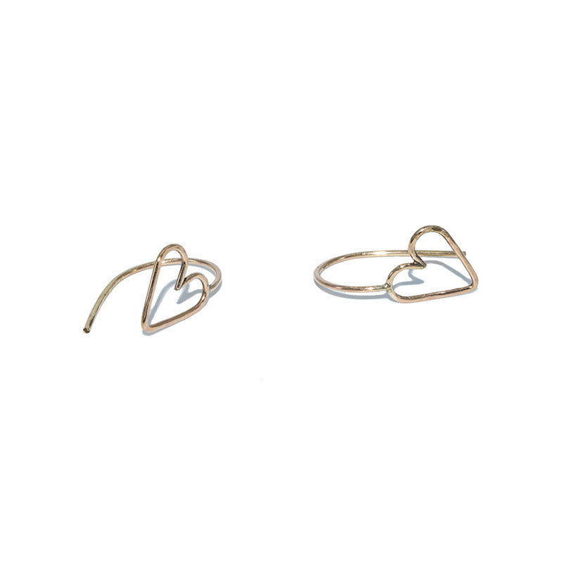 Jenny Sheriff Gold Plated Love Hoop Earrings