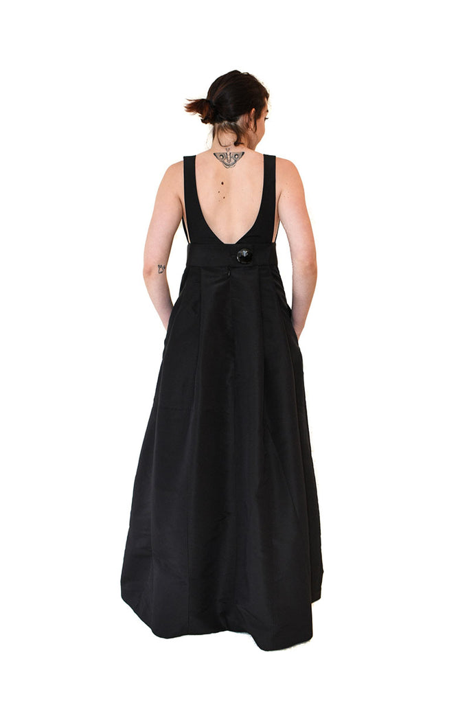 V- Neck Pinafore Evening Dress Size Small