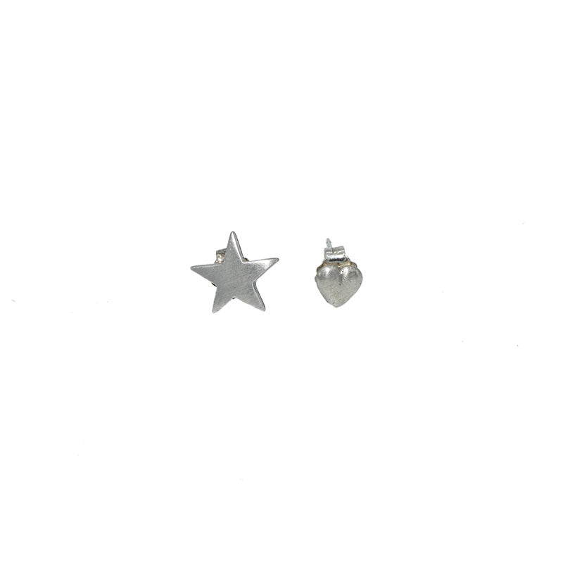 Jenny Sheriff Heart and Star Silver Studs