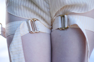 Miette harness cuff gold plated brass details