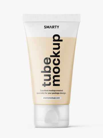 Smart small tube with cream mockup