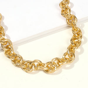 Bamboo Chain Link Necklace