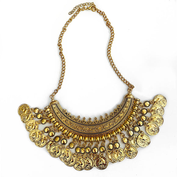 Coin Collar Necklace