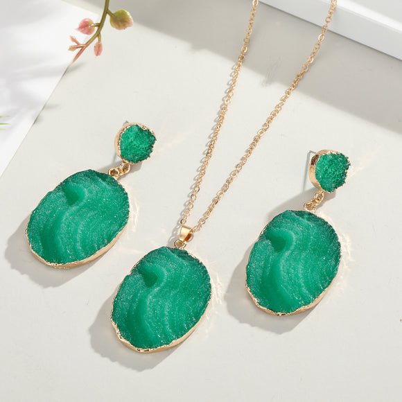 Aqua Necklace Set