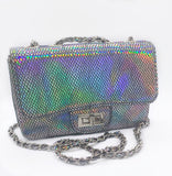 Flashy Snake Print Bag