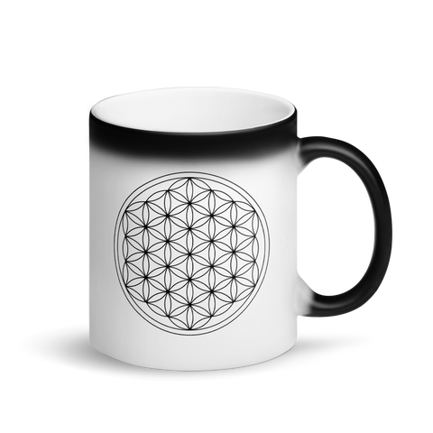 Magic Mug - Flower of Life -  *Color Changing* (white when Hot, black when Cold.)