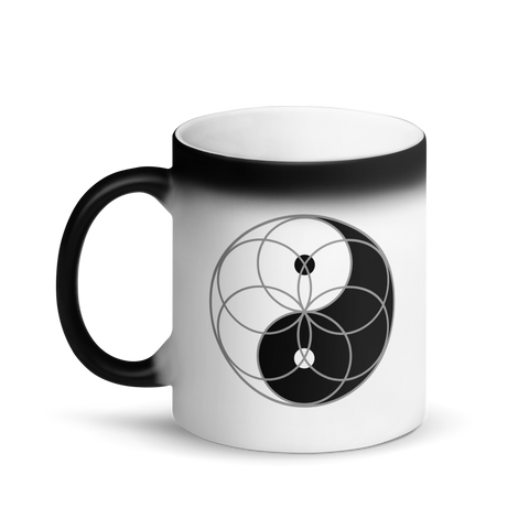 Magic Mug - Yin Yang Seed of Life - *Color Changing* (white when Hot, black when Cold.)