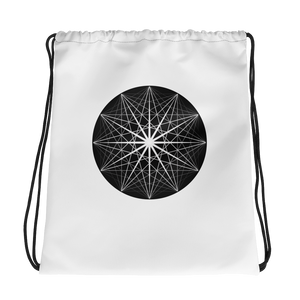 Musical Sphere Zodiac Wheel Drawstring bag