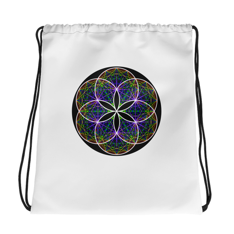 Musical Seed of Life Drawstring bag