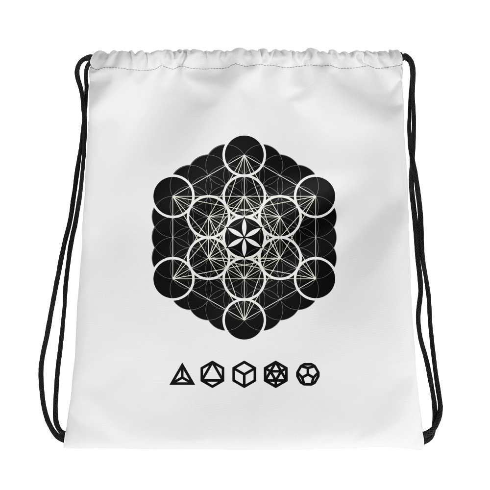 Multi Geometric Drawstring bag