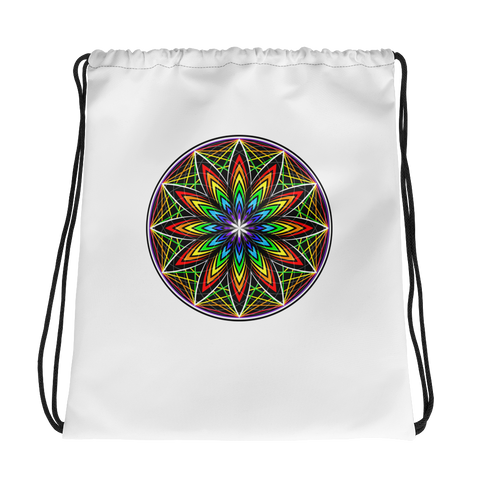 Light Vortex Drawstring bag
