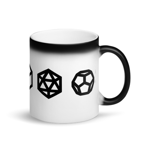 Magic Mug - Platonic Solids -  *Color Changing* (white when Hot, black when Cold.)