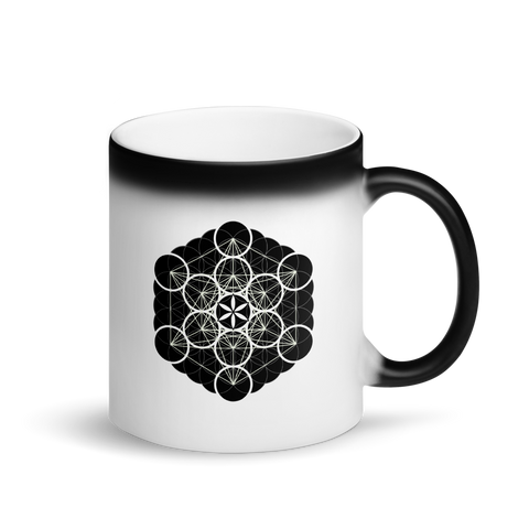 Magic Mug - Flower Fruit Cube -  *Color Changing* (white when Hot, black when Cold.)