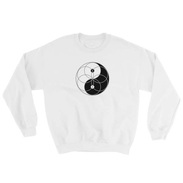 Yin Yang Seed of Life Sweatshirt (clockwise)