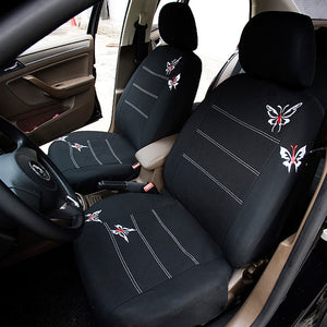 Butterfly Embroidered Car Seat Cover