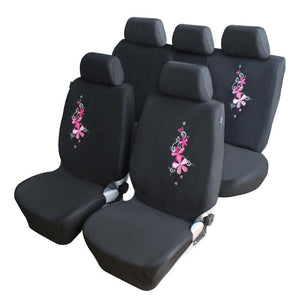 Flower Embroidery Car Seat Cover