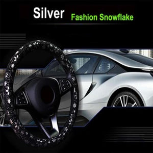 Snowflake Steering Wheel Cover