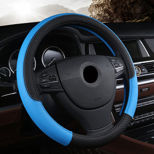 Hand-stitched Steering Wheel Cover