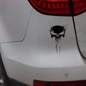 Skull BLOOD Vinyl Car Sticker