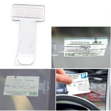 Load image into Gallery viewer, Transparent Car Parking Ticket Clamp