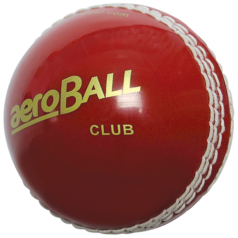 aero Club Cricket ball Blister Packed Red - Teamkit UK