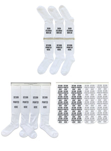 DTGsockprints - SAMPLER PACK - Pre-loaded and Ready to Print White Cotton Socks - Medium, Large