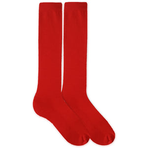 Red Cotton DTGsockprints  Sport Knee High Socks by the Pair (6 pr minimum) -  Medium, Large