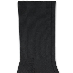 Black Cotton DTGsockprints Crew Socks by the Pair (6 pr minimum) - Small, Medium, Large