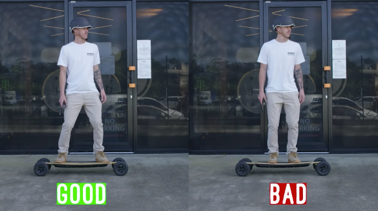 electric skateboard mistakes about wrong stance