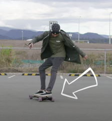 sliding on an evolve electric skateboard