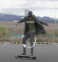 slide an electric skateboard from evolve