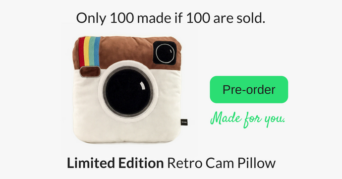 Limited Edition - Retro Cam Pillow